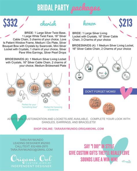 Find Origami Owl Consultant - origami owl bridal packages are now available origami