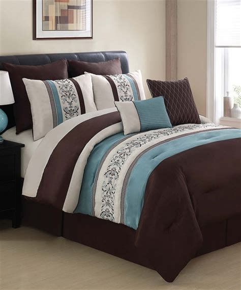 brown and blue comforter blue brown florence comforter set