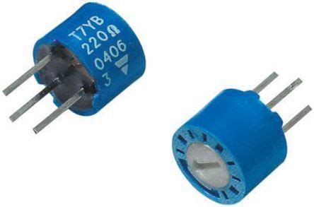 cermet resistor t7yb472mt20 vishay t7yb series through cermet trimmer resistor with pin terminations 4