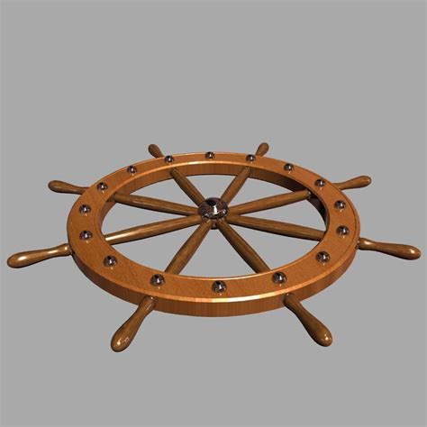 boat steering wheel size boat steering wheel 3d model max 3ds fbx cgtrader