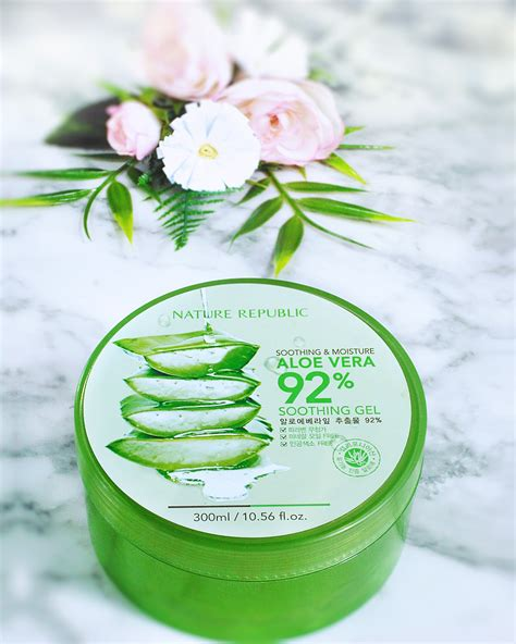 Nature Republic Soothing Gel Review nature republic aloe vera soothing gel