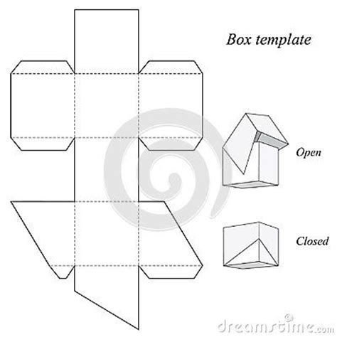 square box template 17 best ideas about box templates on paper box