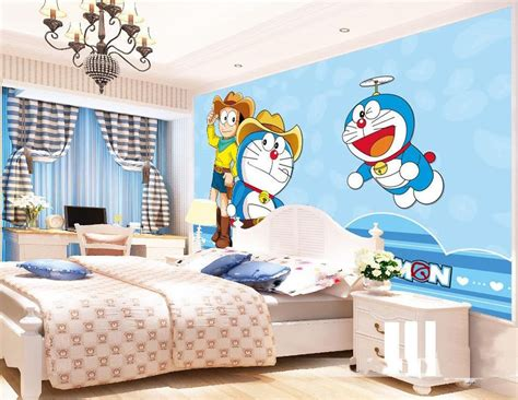 Wallpaper Dinding Doraemon Murah | sticker wallpaper kamar stiker dinding murah