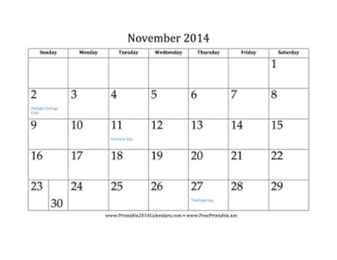 printable monthly calendar november 2014 printable november 2014 calendar