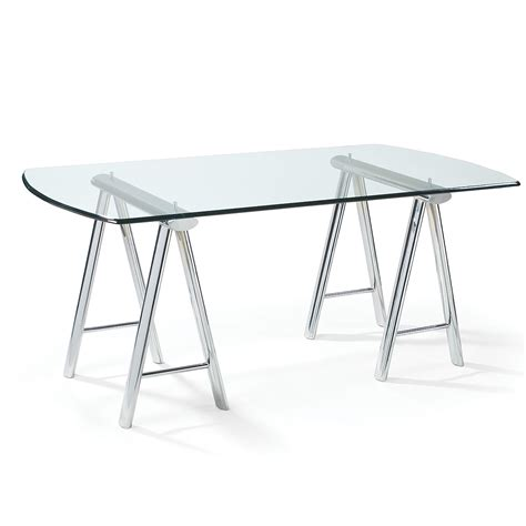 Glass Top Desks For Elegant But Simple Appereance My Office Desk With Glass Top