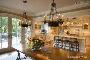 Dining Room In Kitchen Design Effect Picture Of American Style Bungalow Kitchen Design