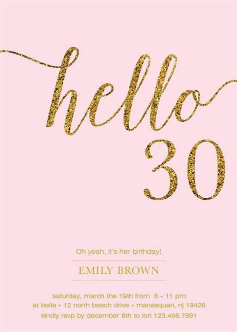 printable birthday cards dirty 30 30th birthday invitation modern gold foil hello 30 by