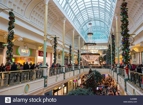 christmas shoppers in the trafford centre manchester uk