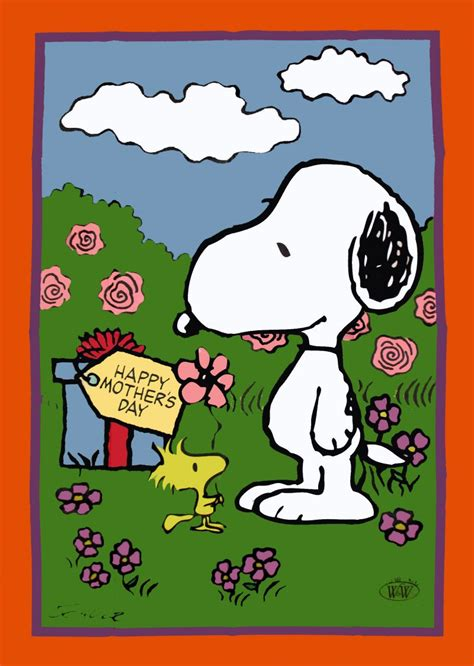 happy s day brown peanuts snoopy peanuts flag