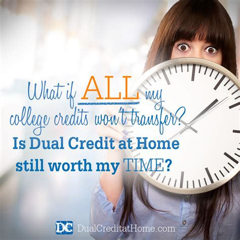 Dual Credit At Home by What If All College Credits Won T Transfer