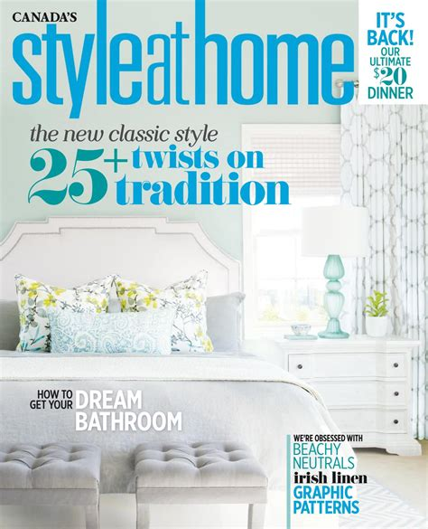 home decor magazine canada magazine style at home september 2016 canada read online