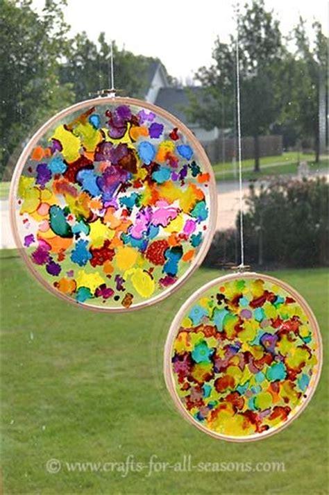suncatcher craft create a colorful sun catcher craft
