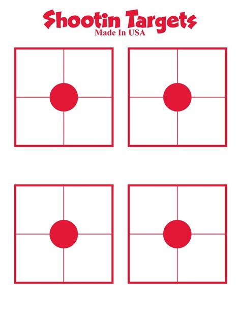 free printable targets 8 5 x 11 150 4 up square and dot paper shooting targets for hand