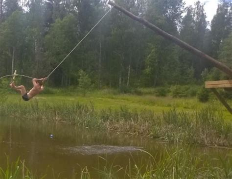 pond swing kexin pond rope swing