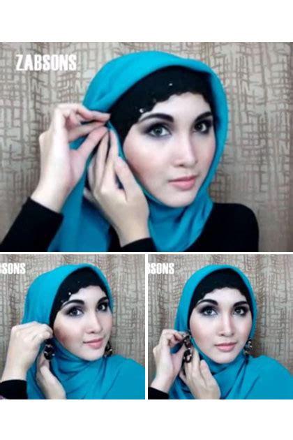 tutorial hijab menggunakan aksesoris anting tutorial hijab simpel penggunaan anting tanpa harus pamer
