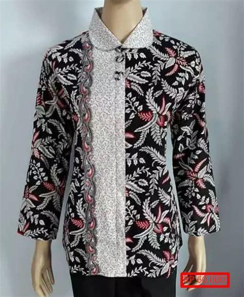 Baju Atasan Batik Wanita 30 Model Baju Batik Wanita Atasan Teranyar Dan Murah
