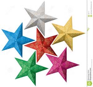 colorful christmas stars stock vector image of artistic 1581771