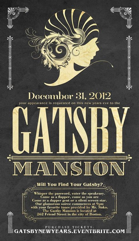 gatsby invitations templates invite great gatsby graphics type
