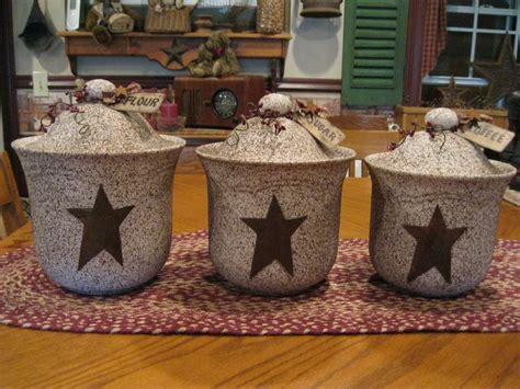primitive kitchen canister sets 1000 ideas about primitive canisters on pinterest