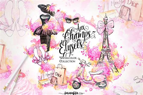 blogspot themes art paris fashion clipart illustrations creative market
