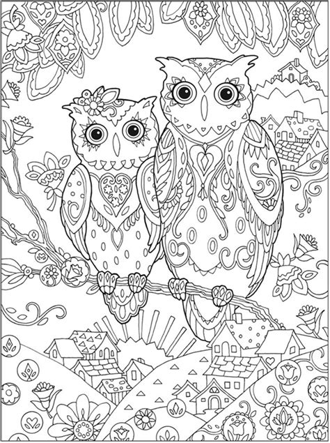 complex owl coloring pages picture coloring complex owl