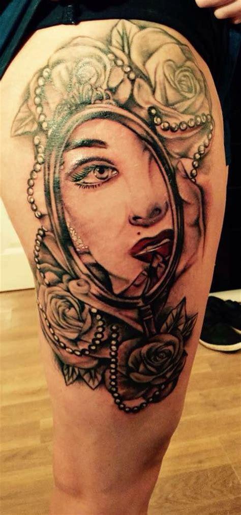 my marilyn monroe mirror thigh tattoo tattoos
