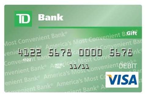 Td Bank Gift Card Login - www tdbank com giftcardinfo how to register and activate your td bank gift card
