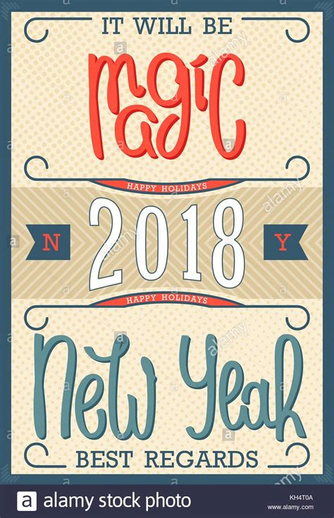 best regards and happy new year new year 2018 vector vectors stock photos new year 2018 vector vectors stock images alamy