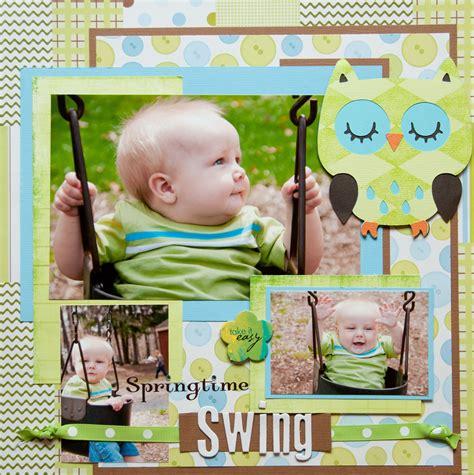 swing layout springtime swing scrapbook scrap layout ideas