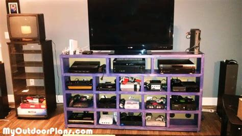 diy video game console storage myoutdoorplans  woodworking plans  projects diy shed