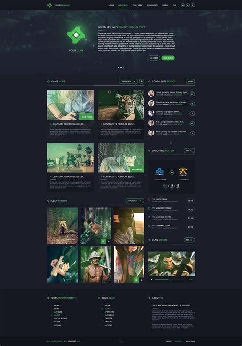 website templates for gaming clans clan gaming web design by ieimiz on deviantart
