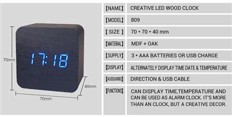 Water Powered Digital Clock With Temperature Function Jam Temperatur honana dx co300 electronic clock creative water proof time digital wooden alarm clock at
