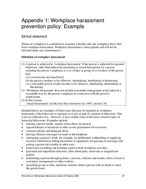 bullying and harassment policy template bullying and harassment policy template gallery template