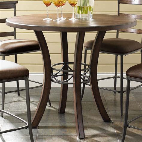 wood round pub table hillsdale cameron round wood counter height table olinde