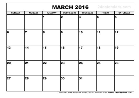 Printable Planner For March 2016 | march 2016 calendar printable