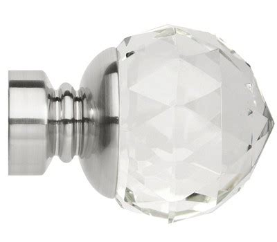 35mm curtain finials rolls neo premium clear faceted ball finials for 35mm
