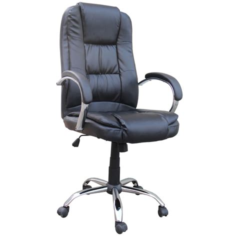 Computer Desk And Chairs Homegear Pu Leather Executive Wheeled Computer Desk Chair Office Chair Ebay