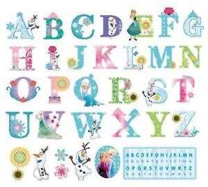 Wall Stickers For Boy Nursery frozen a z alphabet letters wall sticker olaf anna elsa