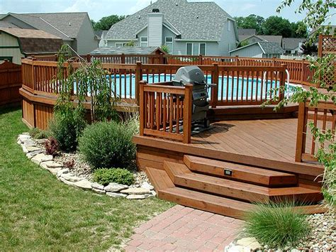 multi level deck   ground pool home sweet home