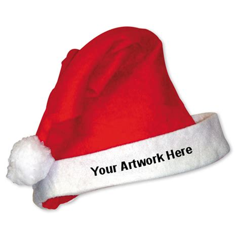 bulk santa hats custom logo imprinted santa hat promotions