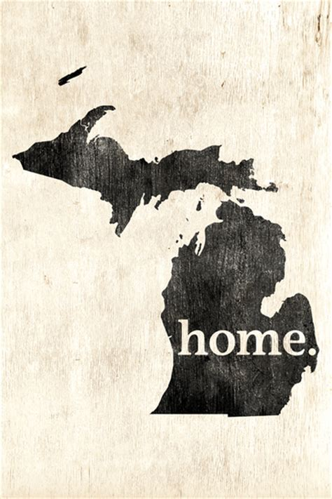 michigan home poster print keep calm collection