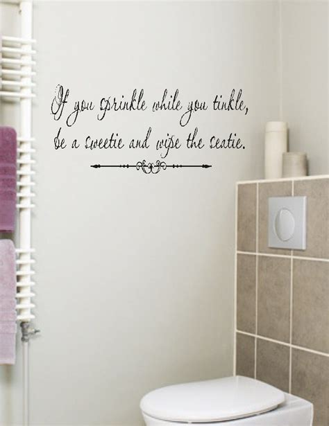 bathroom decal if you sprinkle bathroom quote wall decal words lettering
