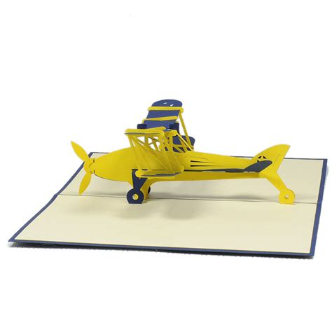 Templates For Handmade Airplane 3d Pop Up Card by Biplane Pop Up Card Custom 3d Card Supplier Pop Up