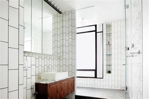 subway tile bathroom for wonderful touch how to make an all white home look great home decor