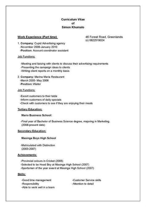 How To Write A Detailed Cv by How To Write A Cv Fotolip Rich Image And Wallpaper