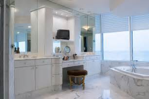 Vanity Makeup Station 34 Luxury White Master Bathroom Ideas Pictures