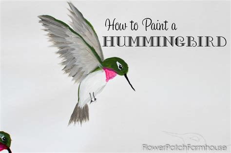 how to paint how to paint a hummingbird flower patch farmhouse