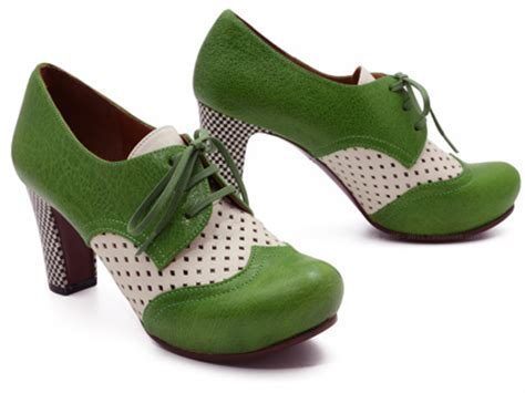 Chie Miharas Bonne Chance by Chie Mihara Bandera In Verde Green Leche Ped Shoes