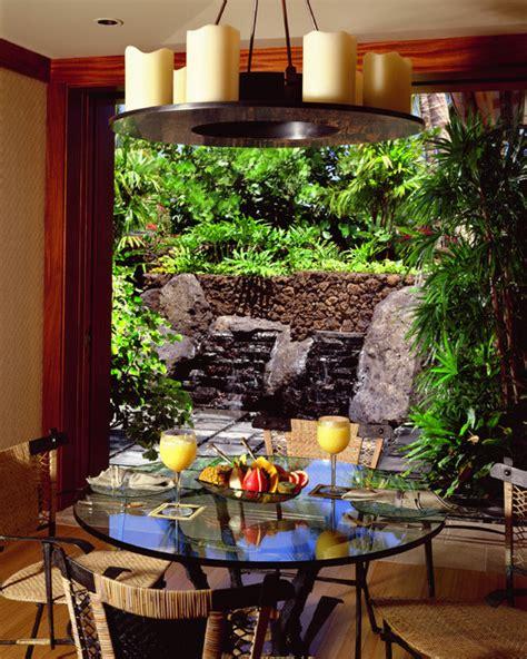 breakfast garden tropical dining room hawaii