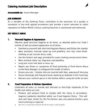 10 catering description templates pdf doc free